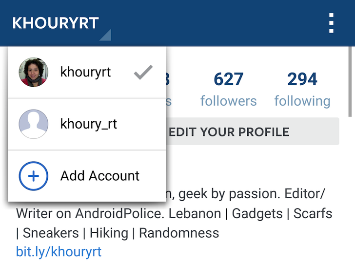 cambio de sesión en instagram