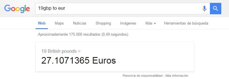 google divisas