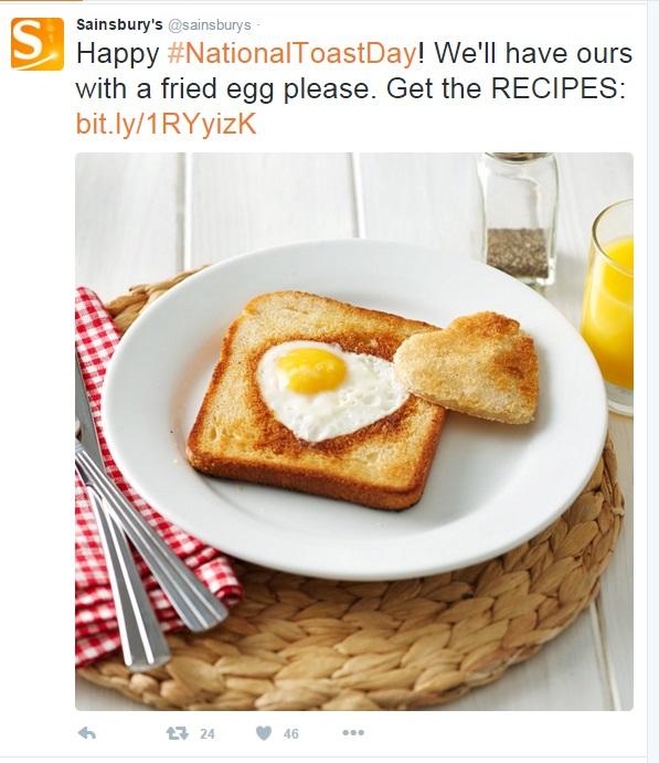 toast sainsburys