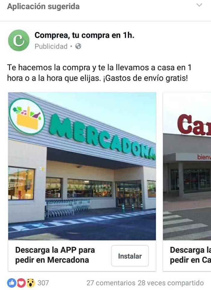 Facebook Ads Comprea Maria en la red