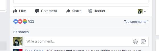 boton lgbt facebook reaction