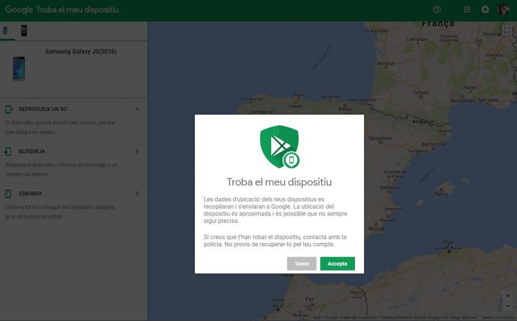 Cómo encontrar mi teléfono Android gracias al rastreador de Google