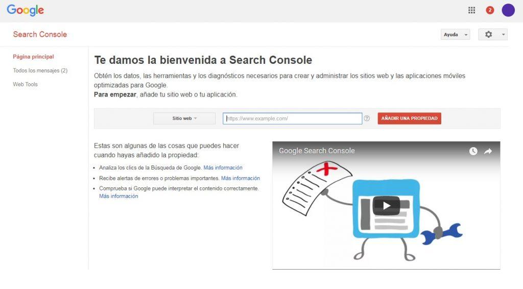 Como configurar Google Search Console - Primeros pasos - Maria en la red