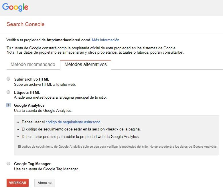 Cómo configurar Google Search Console 5
