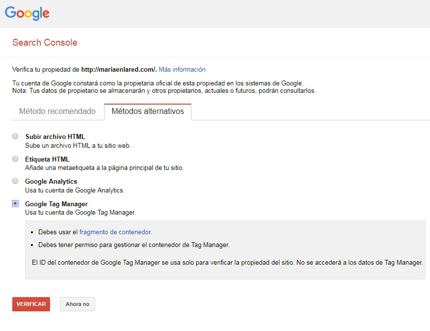 Cómo configurar Google Search Console 6