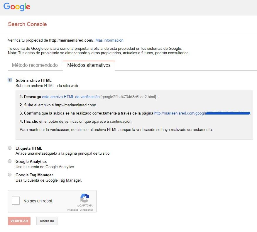 Cómo configurar Google Search Console 3