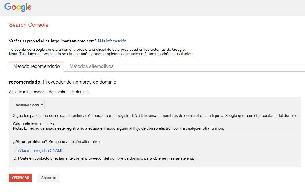 Cómo configurar Google Search Console 1
