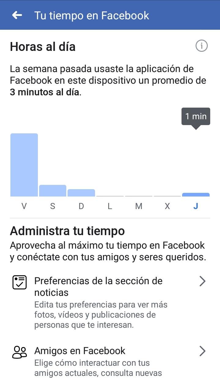 Cuanto tiempo pasas en Facebook Horas al dia   Maria en la red