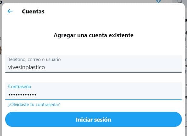Cómo agregar una cuenta existente de Twitter desde tu ordenador