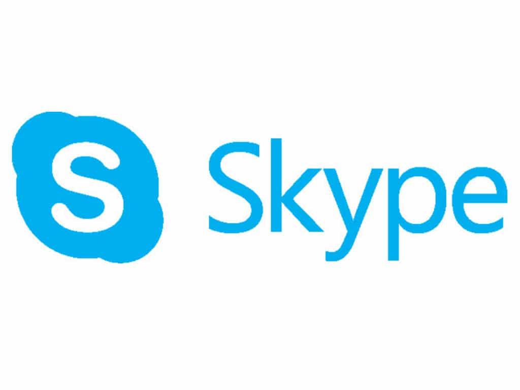 Logotipo de Skype, la herramienta gratis para videoconferencia más popular.
