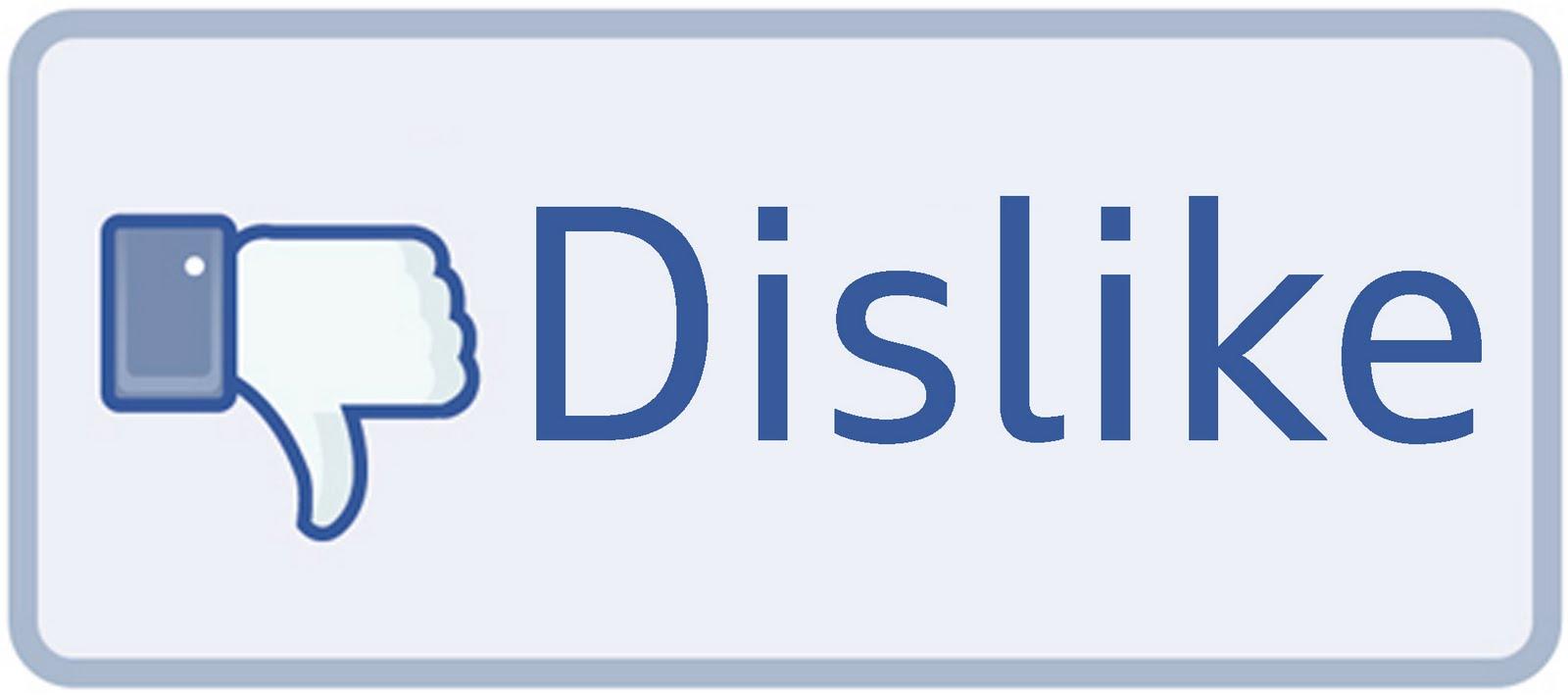 Botón No me gusta en Facebook