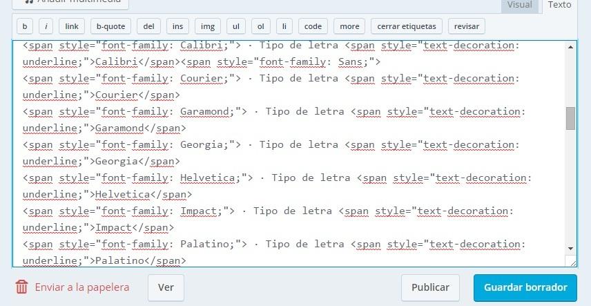 Cómo cambiar el tipo de letra en Wordpress (gratis) 1
