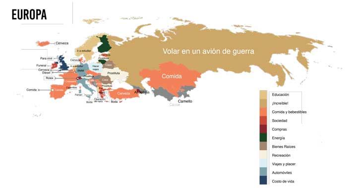 cuanto cuesta europa
