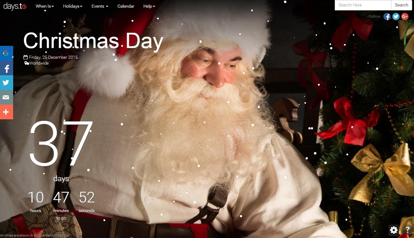 Cuánto falta para Navidad - Days To