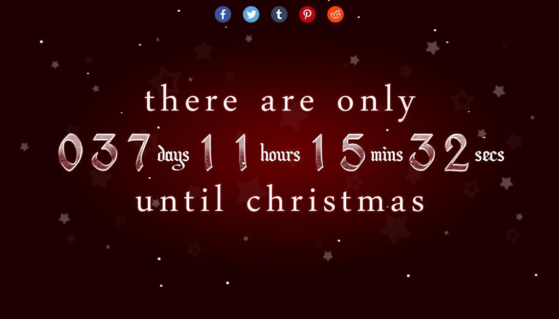 Cuánto falta para Navidad - simple y práctico