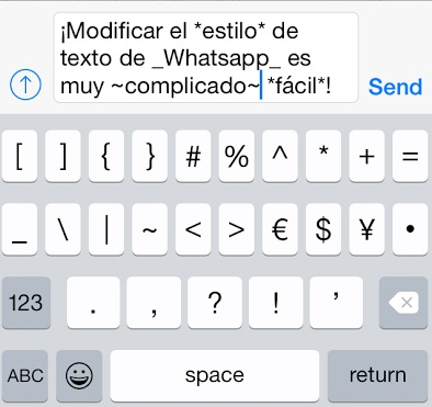 texto pre modificado en whatsapp