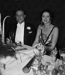 Hedy Lamarr con su primer marido Friedrich Mandl