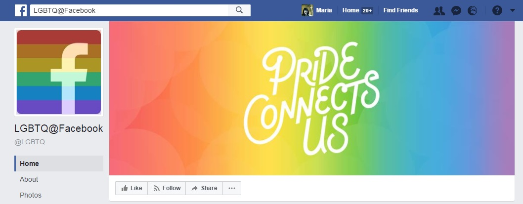LGBT on Facebook Maria en la red