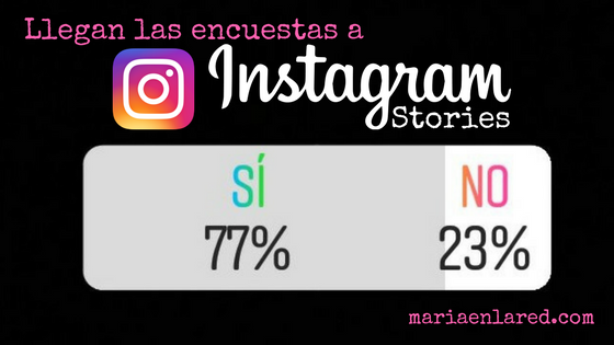 Llegan las encuestas a Instagram Stories - Maria en la red
