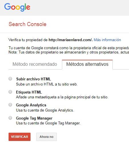 Cómo configurar Google Search Console 2