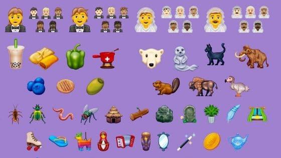 Parte de los 117 nuevos emoji aprobados en 2020