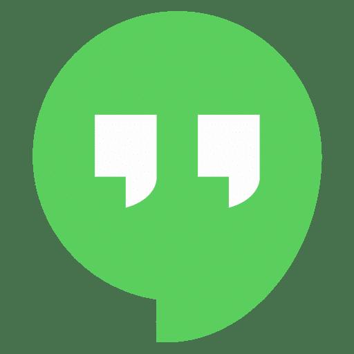 Logotipo de Hangouts, una de las herramientas gratis para videoconferencias que te propondo.