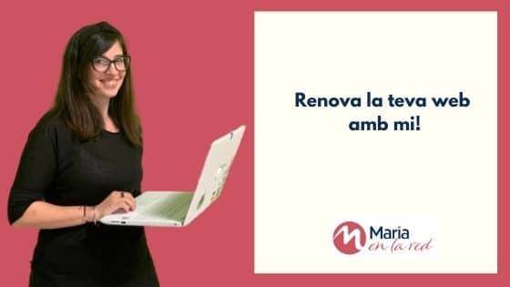 Disseny web personalitzat a Maria en la red